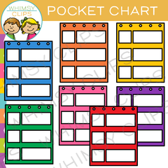 Pocket Chart Clip Art