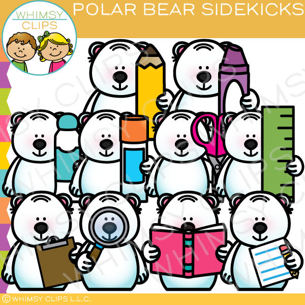 Polar Bear Sidekicks Clip Art