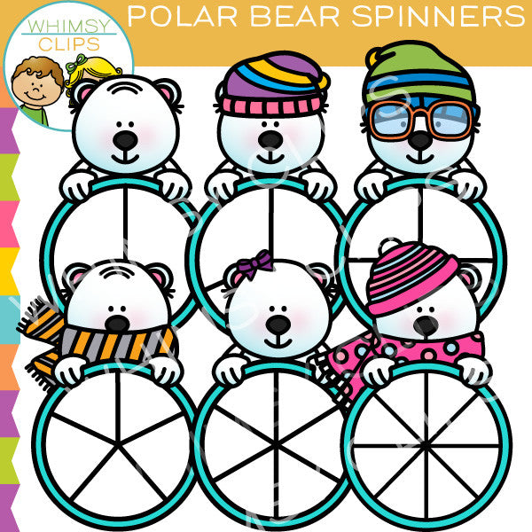 Polar Bear Spinners Clip Art