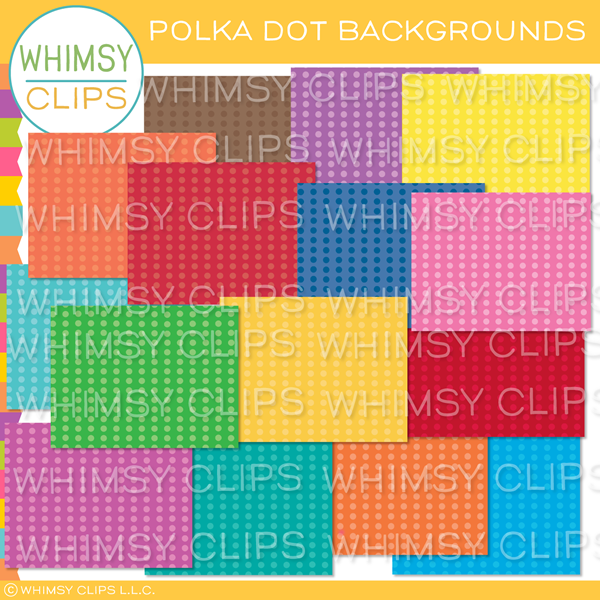 Bright Polka Dot Backgrounds