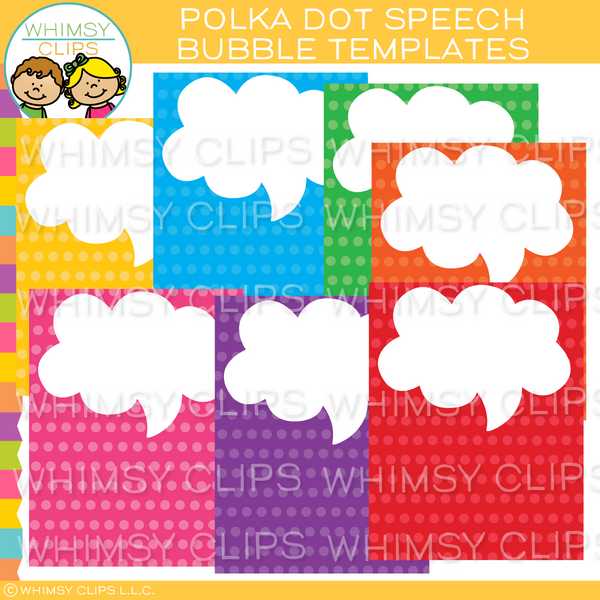 Dot Speech Bubble Templates