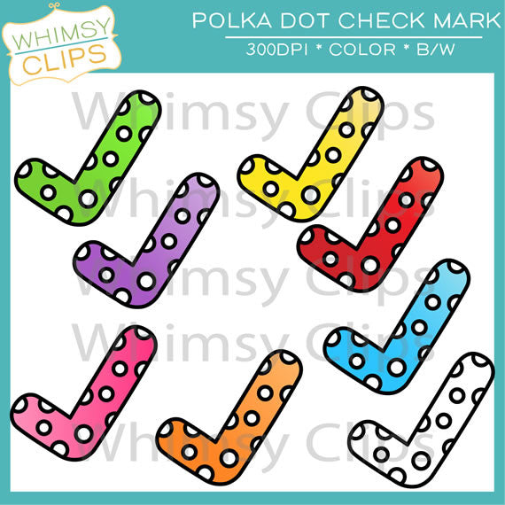 Free Polka Dot Check Mark Clip Art