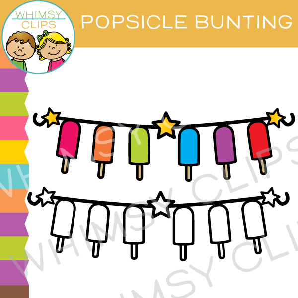 Popsicle Bunting Clip Art