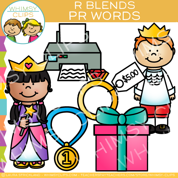 R Blends Clip Art - PR Words - Volume One