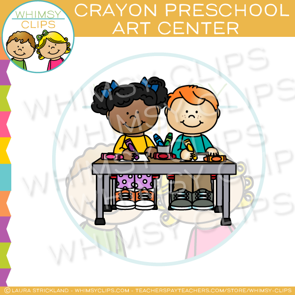 Crayon Preschool Art Center Clip Art