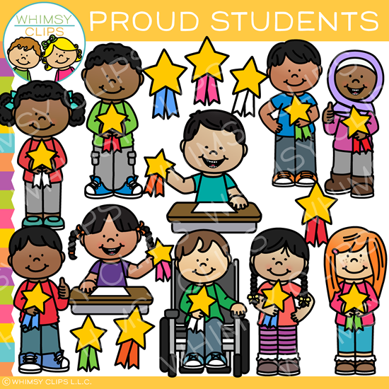 Proud Kids Clip Art