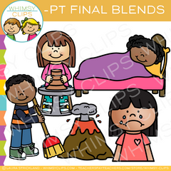 Ending Blends Clip Art - PT Words