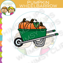 Pumpkins In Wheelbarrow Clip Art