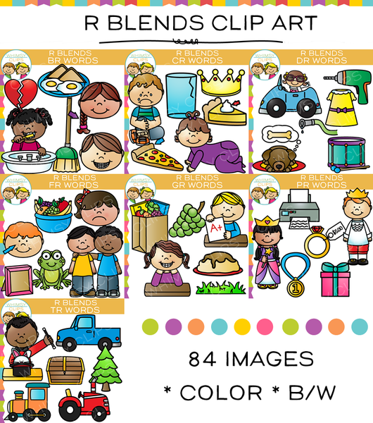 R Blends Clip Art Bundle - All R Blends - Volume One
