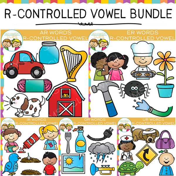 R-Controlled Vowel Clip Art Bundle