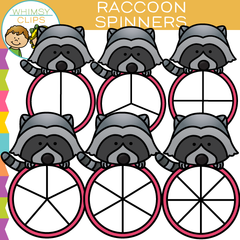 Raccoon Spinners Clip Art