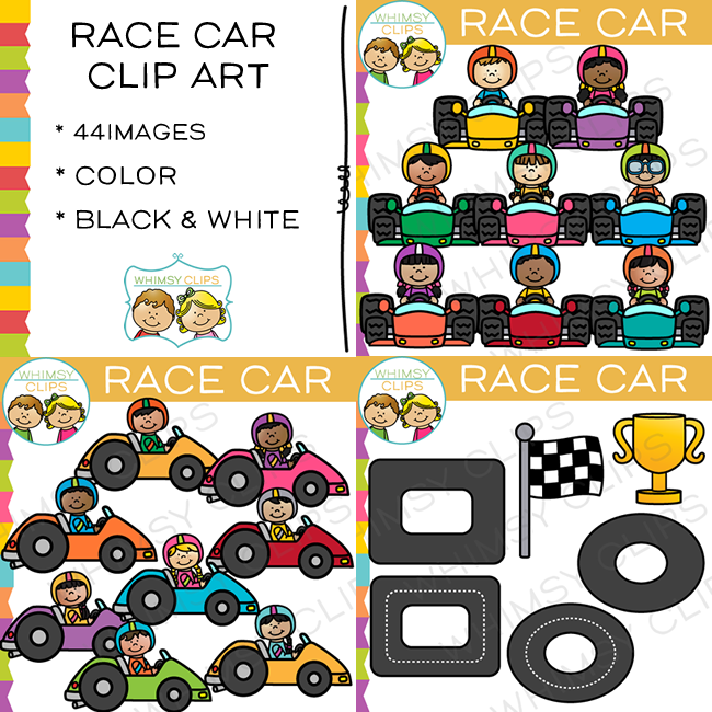 Race Car Kids Clip Art