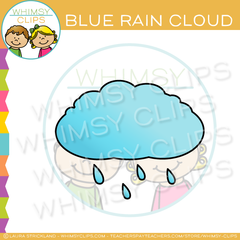 Blue Rain Cloud Clip Art