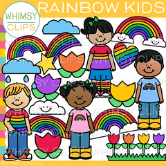 Rainbow Kids Clip Art