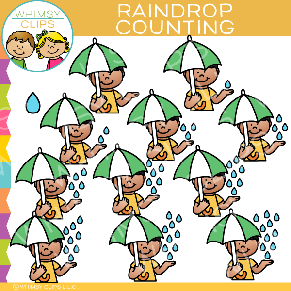Raindrop Counting Clip Art