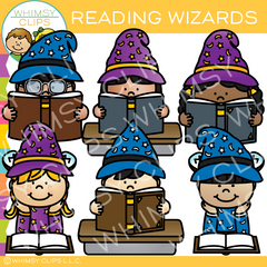 Reading Wizards Clip Art
