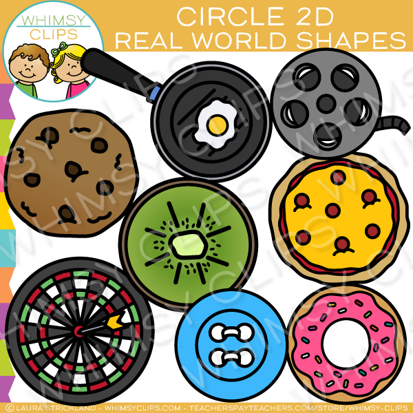 Circle 2D Shapes Real Life Objects Clip Art