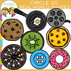 2D Circle Real Life Objects Clip Art