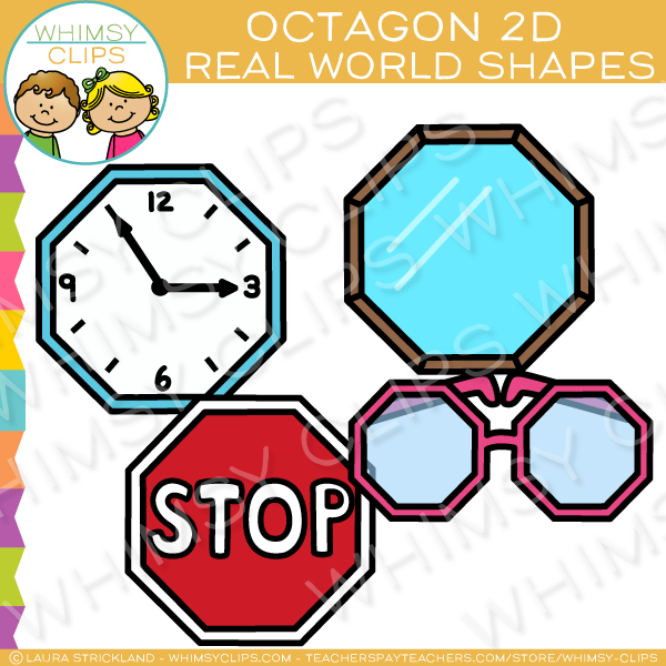 Octagon 2D Shapes Real Life Objects Clip Art