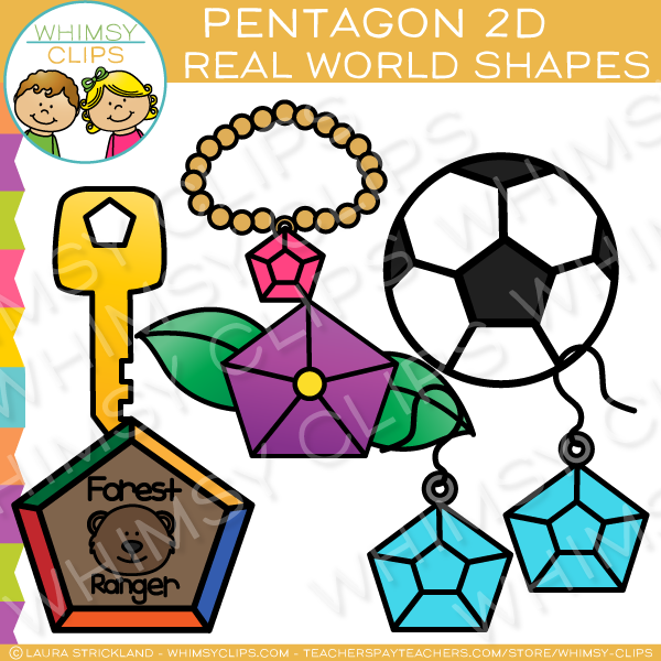 Pentagon 2D Shapes Real Life Objects Clip Art