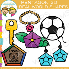 Pentagon 2D Real Life Objects Clip Art