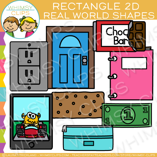 Rectangle 2D Shapes Real Life Objects Clip Art