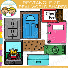 Rectangle 2D Real Life Objects Clip Art