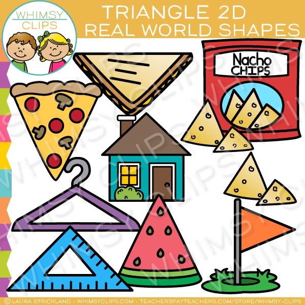 Triangle 2D Shapes Real Life Objects Clip Art