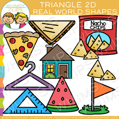 Triangle 2D Real Life Objects Clip Art