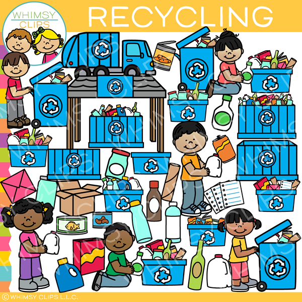 Kids Recycle Clip Art
