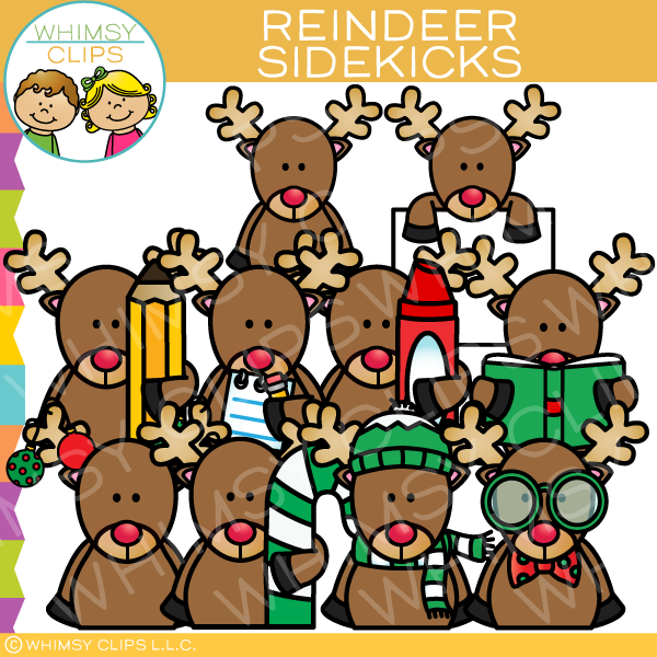 Reindeer Sidekicks Clip Art