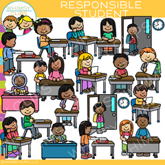 Be a Responsible Student Clip Art