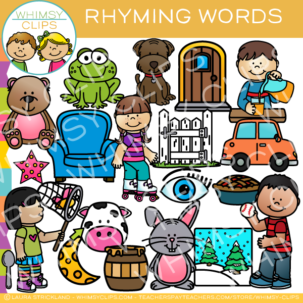 Rhyming Words Clip Art