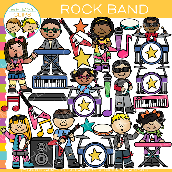 Kids Rock Band Clip Art