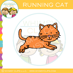 Running Cat Clip Art