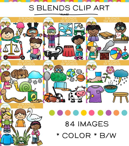 S Blends Clip Art Bundle - Volume One