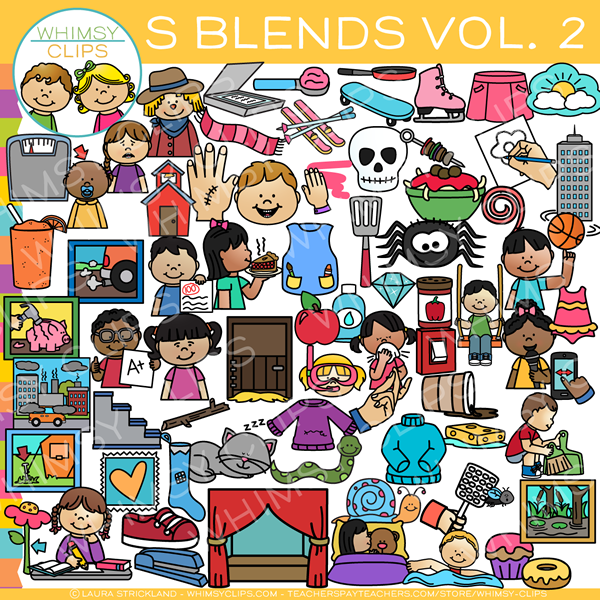 S Blends Clip Art Volume Two