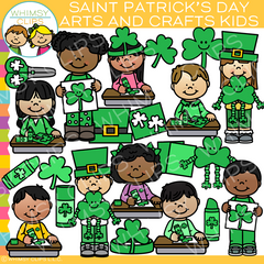 Saint Patrick's Day Arts and Crafts Kids Clip Art