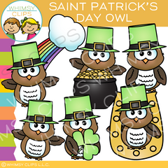 Saint Patrick's Day Owl Clip Art