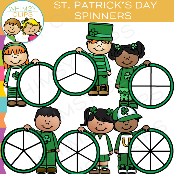 St. Patrick's Day Spinners Clip Art