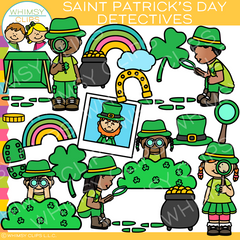 St. Patrick's Day Detectives Clip Art
