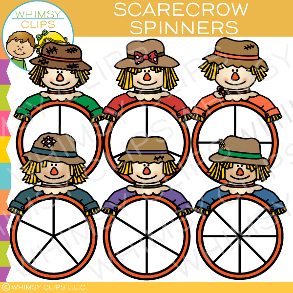 Scarecrow Spinners Clip Art