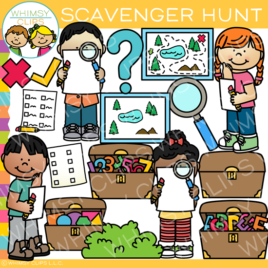 Kids Scavenger Hunt Clip Art