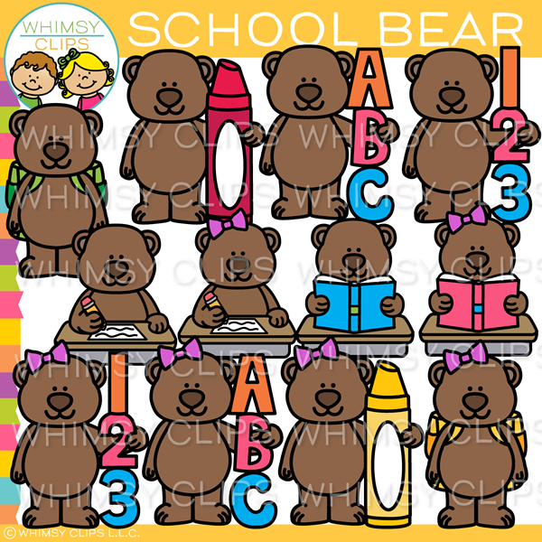 School Bear Clip Art