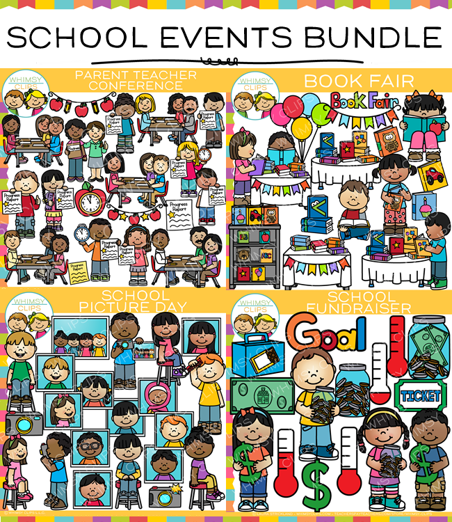 School Events Clip Art Bundle