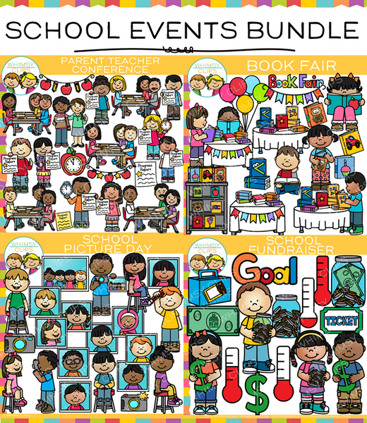Events from School Clip Art Bundle