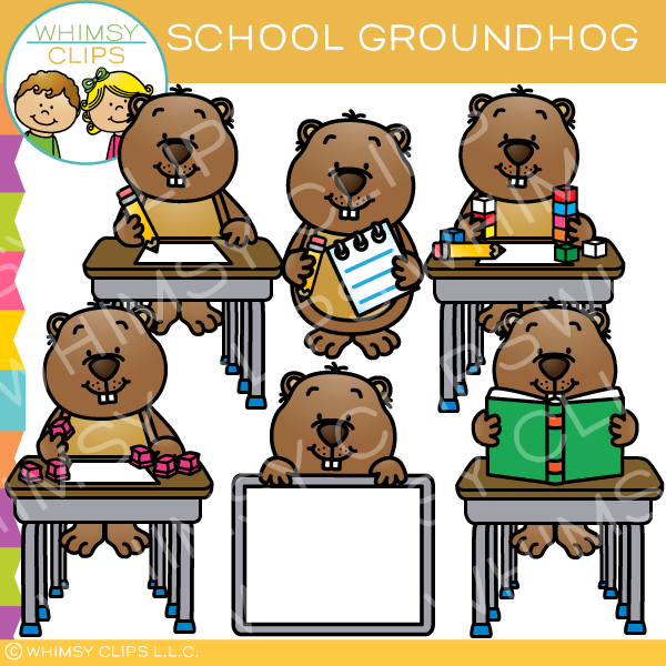 School Groundhog Clip Art