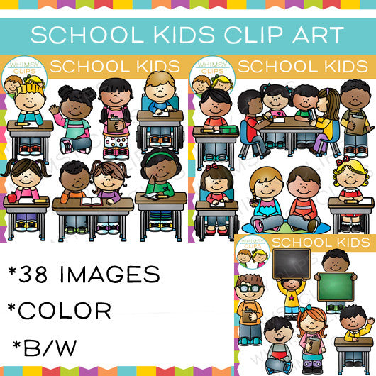 Kids at School Clip Art