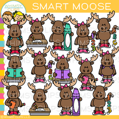School Moose Clip Art