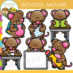 School Mouse Clip Art